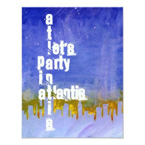 ATLANTIS THEME SWEET SIXTEEN 16 PARTY INVITATION