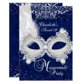 Sweet 16 Masquerade Ball Invitations Sixteen