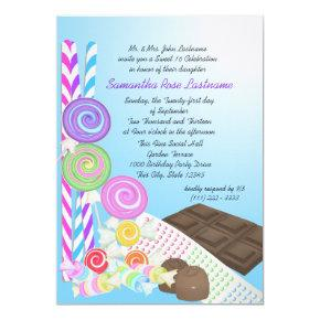 Candy Shoppe Sweet Sixteen Birthday Invitation