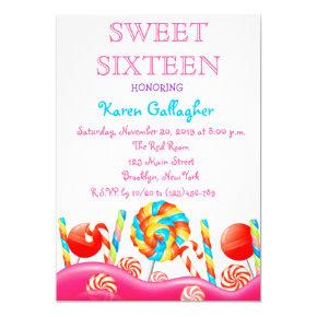 Candy Sweet 16 Invitations Page 2 Sweet Sixteen Invitations