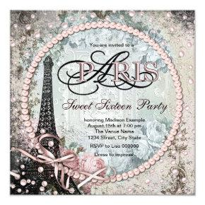 Chic Paris Sweet 16 Party Invitation