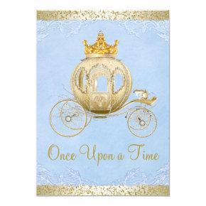 Cinderella Blue Once Upon a Time Princess Birthday Invitation