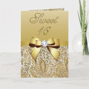 Elegant Gold Sweet 16 Party Invitation