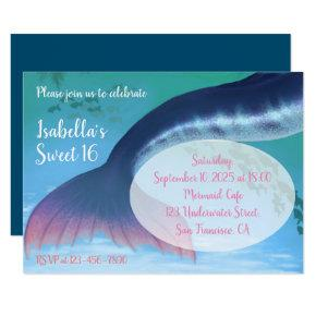 Mermaid Sweet 16 Under the Sea 16th Birthday Invitation