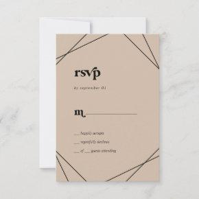 Modern Geometric | Orange Simple RSVP Card