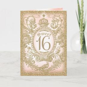 Once Upon a Time Sweet 16 Invitation