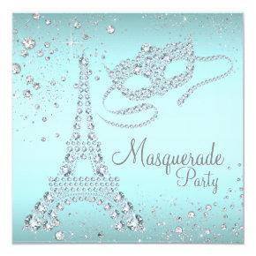 Paris Masquerade Party Invitation