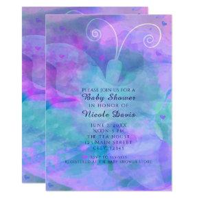 Pastel Watercolor Butterfly Party Invitations