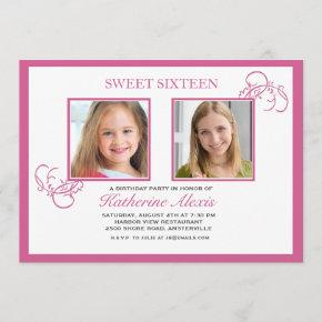 Pinkest Pink Photo Invitation