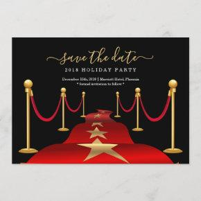 Red Carpet Themed Party Save the Date Card