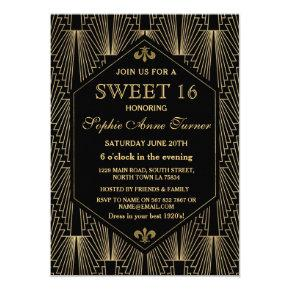 Blue Colorful Lots of Candy Sweet 16 Invitation – Sweet Sixteen