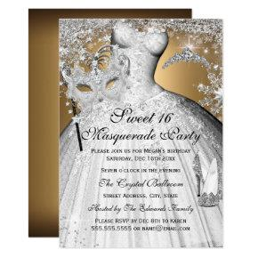 Masquerade Sweet 16 Invitations Sixteen