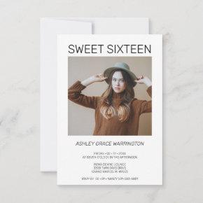 Simple Calligraphy Photo Instant Sweet Sixteen