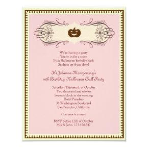 Sweet 16 Halloween Ball Costume Party Invitation