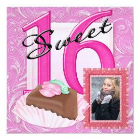 Sweet 16 Photo Invite