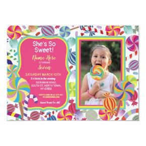 Sweet Photo Dessert Candy Sweet 16 or Any Age Invitation