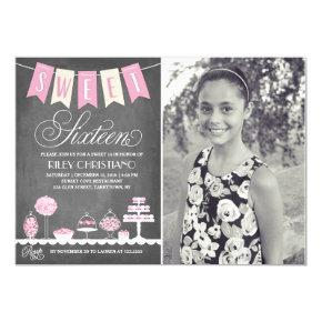 Sweet Sixteen Photo | Birthday Invitation