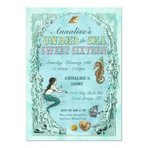 Under the Sea Sweet Sixteen Invitation