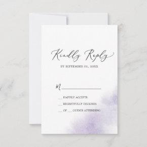 Watercolor Wash | Purple Simple RSVP Card